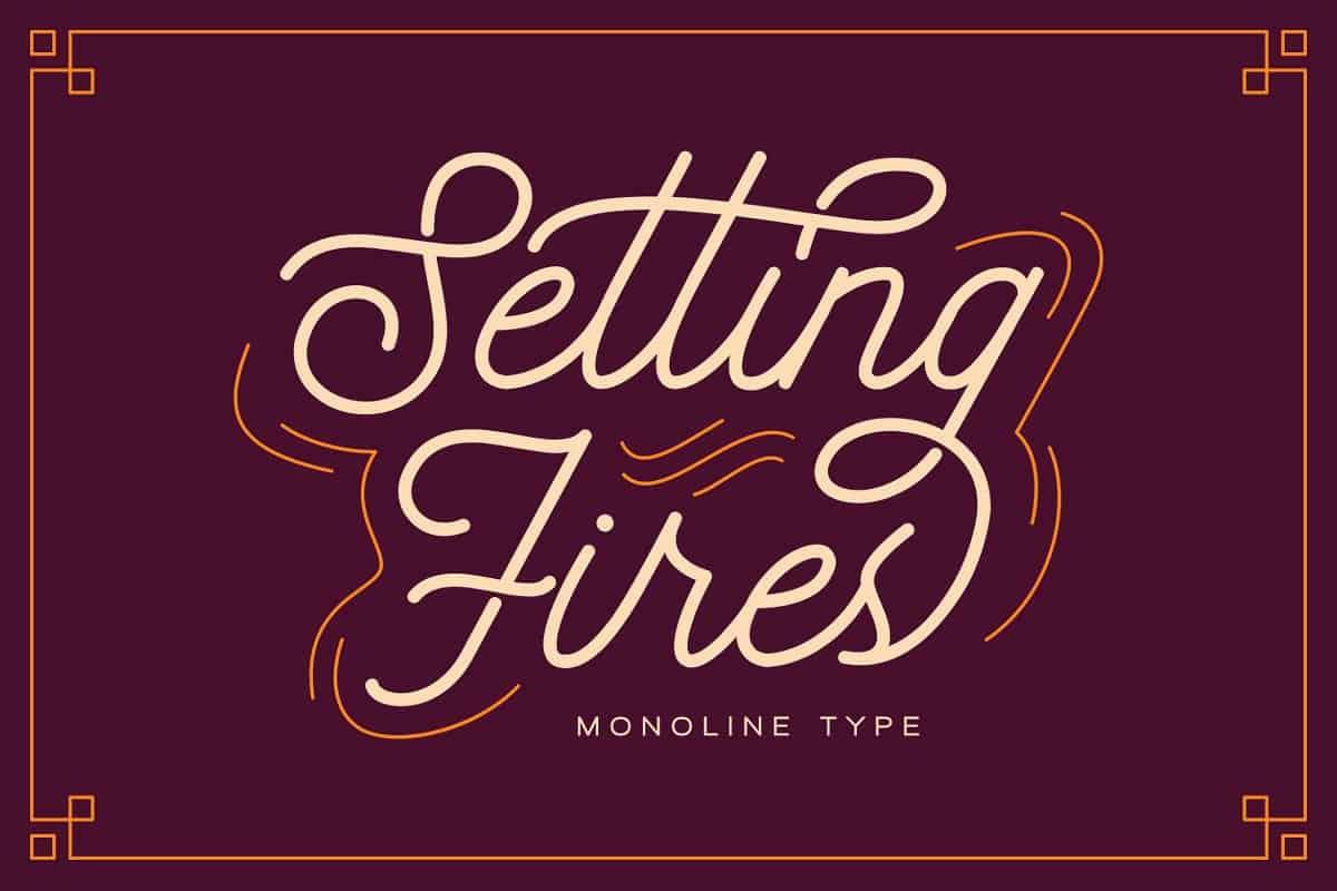 Download Seting Fires font (typeface)