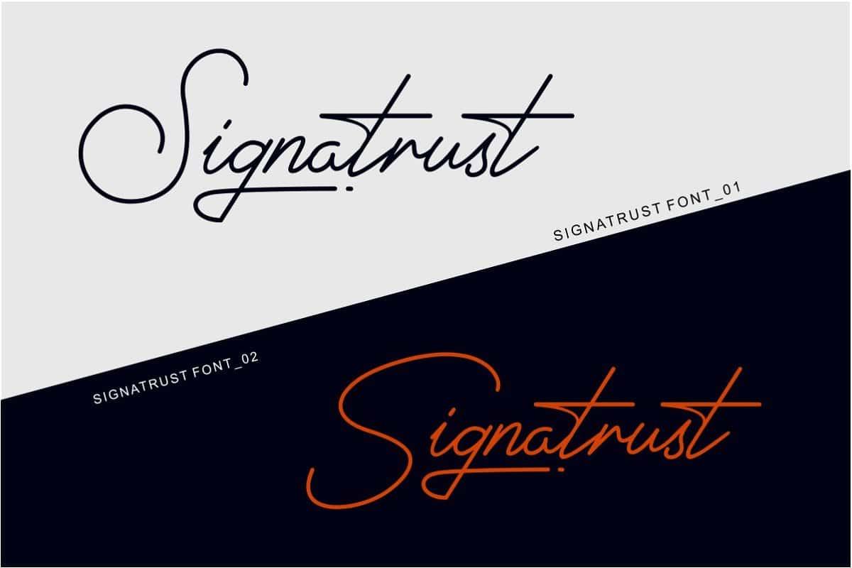 Signatrust шрифт скачать бесплатно