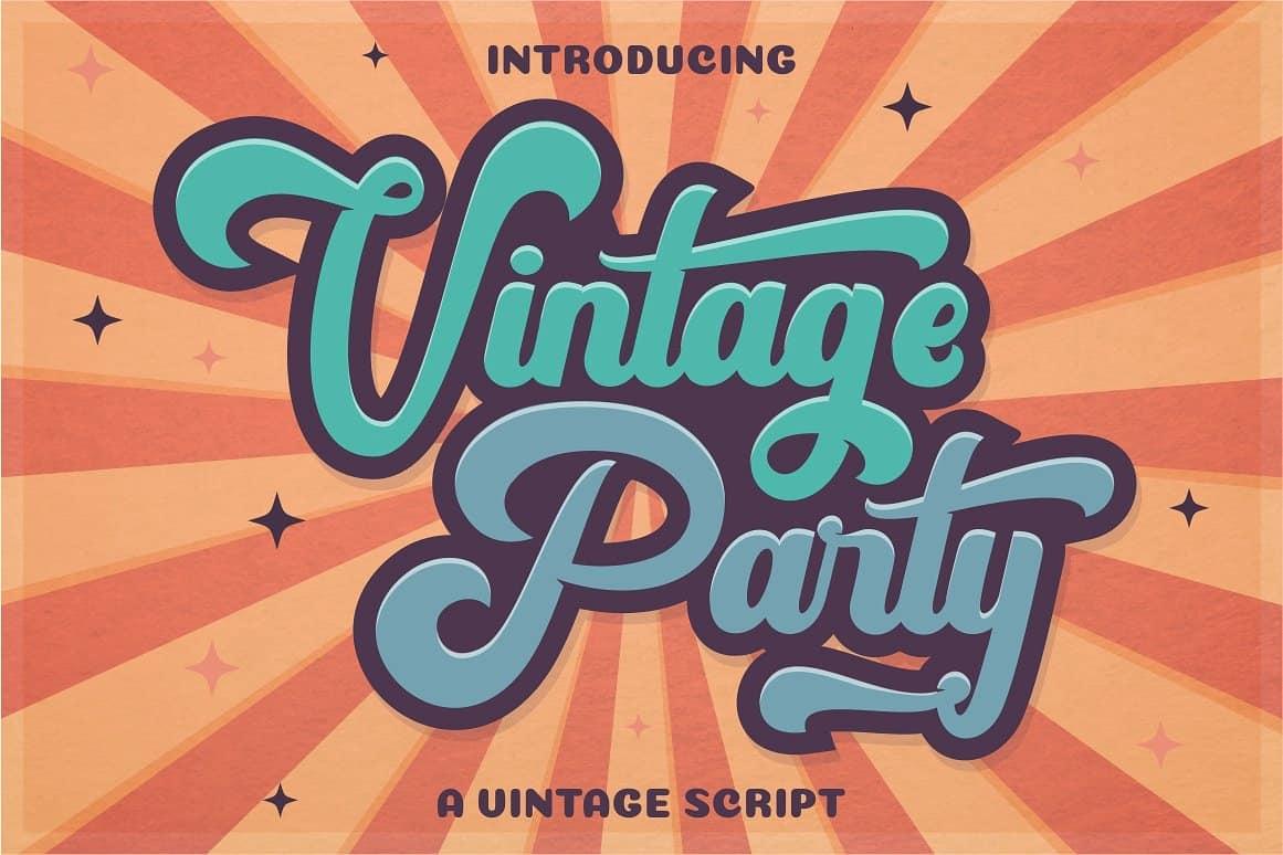 Vintage Party шрифт скачать бесплатно
