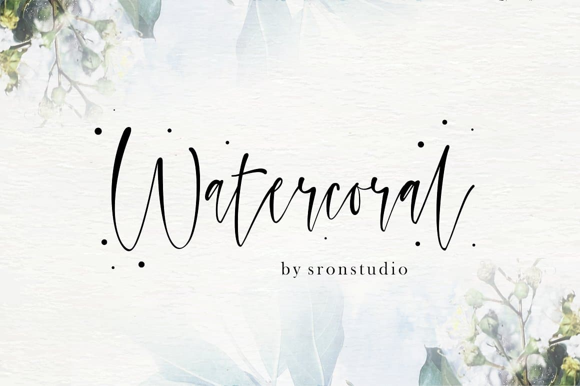 Download Watercoral font (typeface)