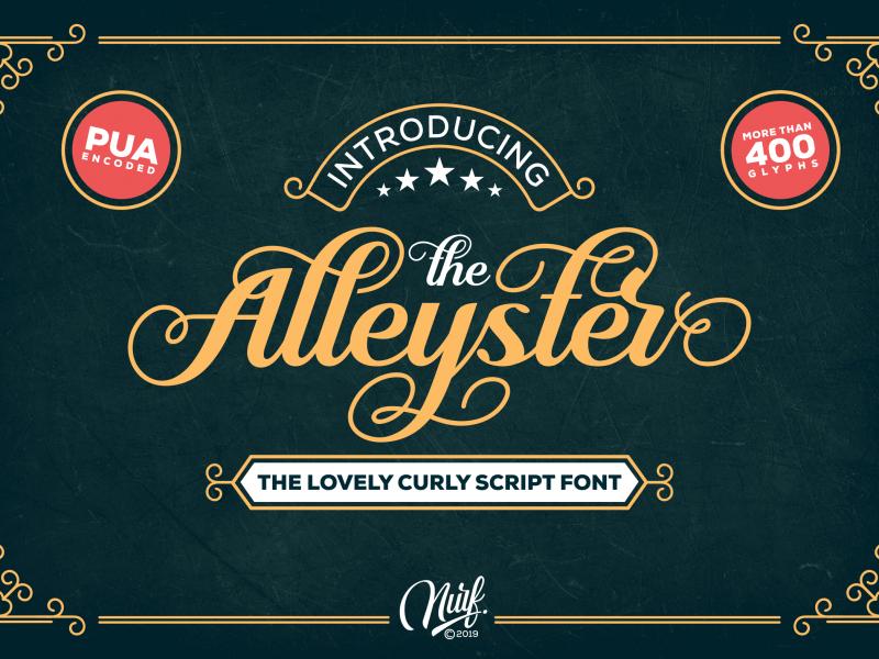 Download Alleyster font (typeface)