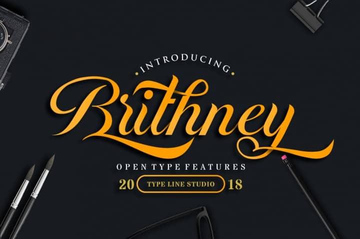 Download Brithney font (typeface)
