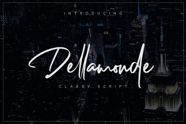 Download Dellamonde font (typeface)