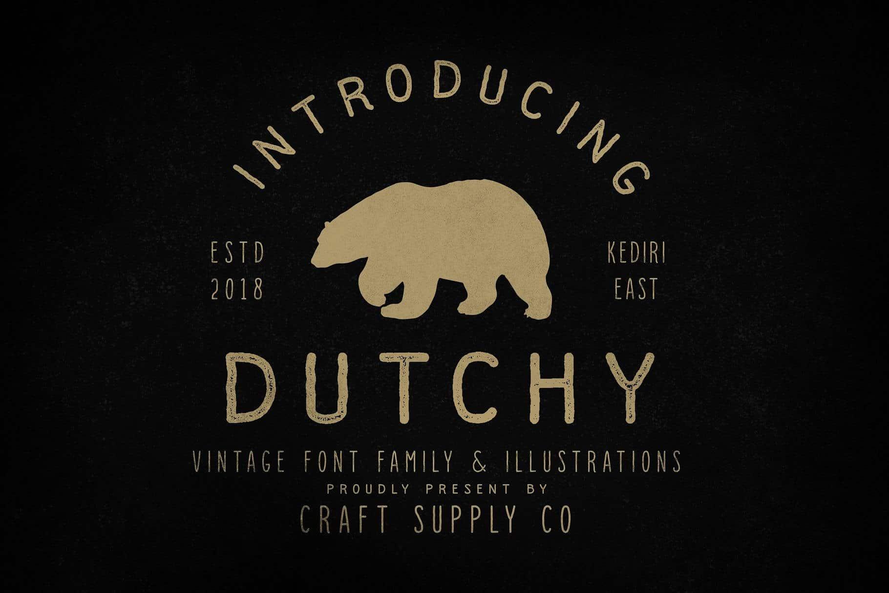 Dutchy шрифт скачать бесплатно