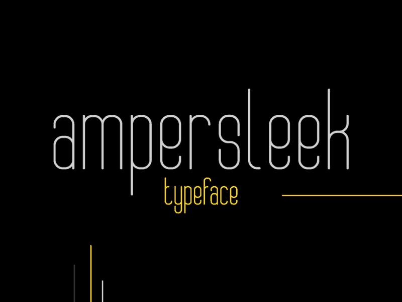 Download AmperSleek font (typeface)