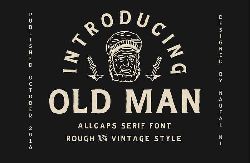 Download Old Man font (typeface)