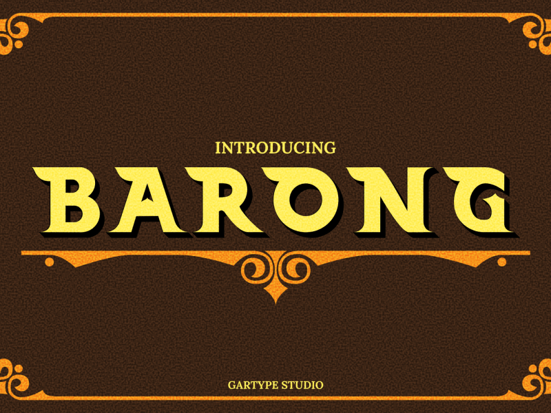 Download Barong font (typeface)