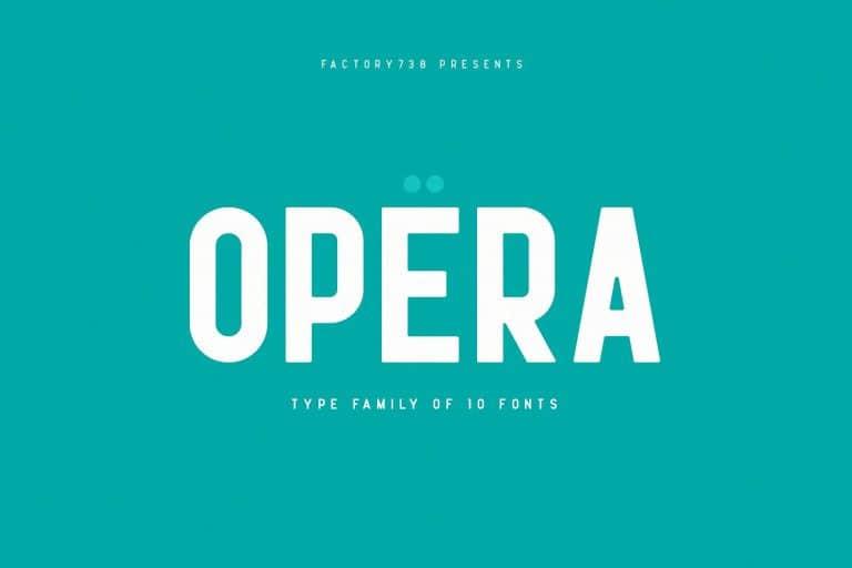 Opera шрифт скачать бесплатно