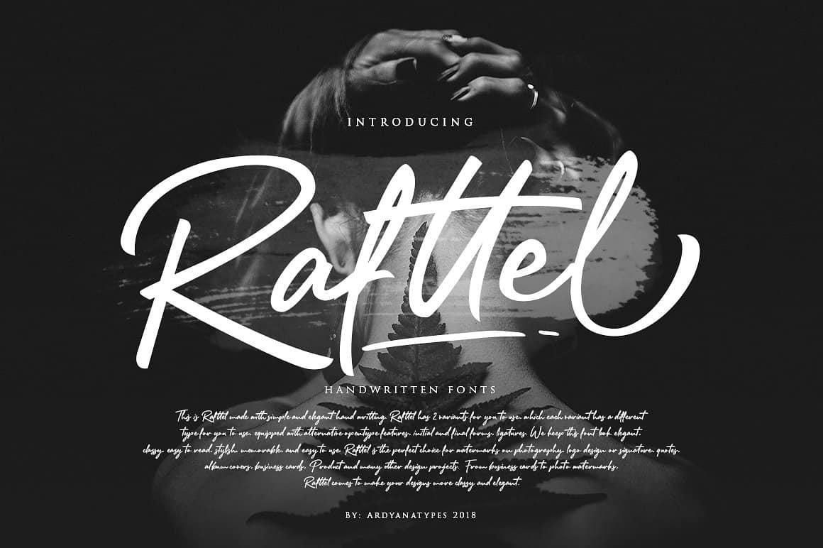 Rafttel шрифт скачать бесплатно