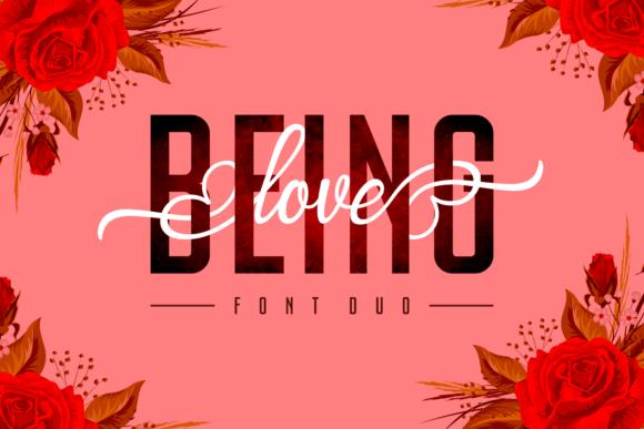 Being Love шрифт скачать бесплатно