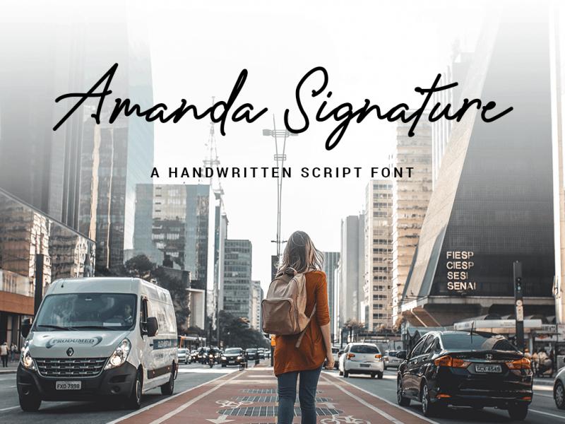Download Amanda Signature font (typeface)