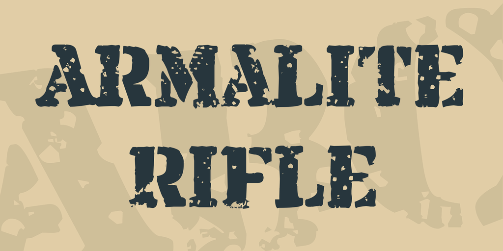 Download Armalite Rifle font (typeface)