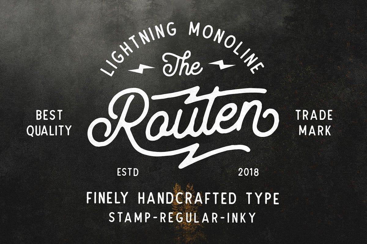 Routen Lightning шрифт скачать бесплатно