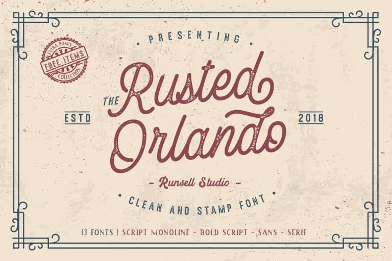 Download Rusted Orlando font (typeface)