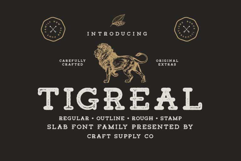 Tigreal шрифт скачать бесплатно