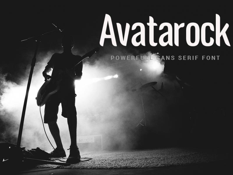 Download Avatarock font (typeface)
