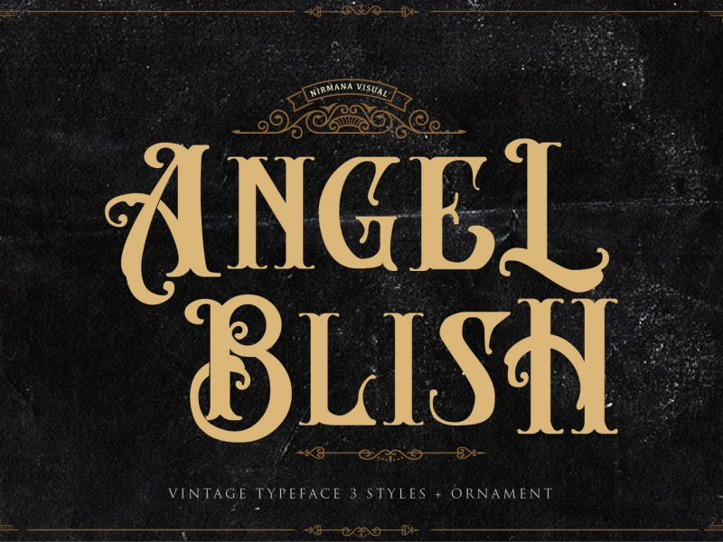 Download Angel Blish font (typeface)