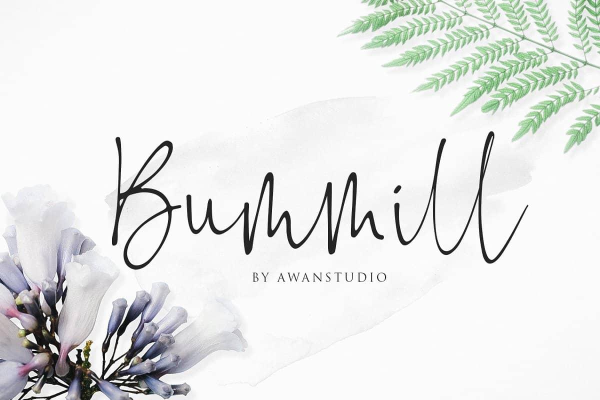 Bummill шрифт скачать бесплатно