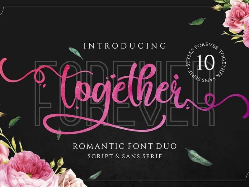 Download Forever Together font (typeface)