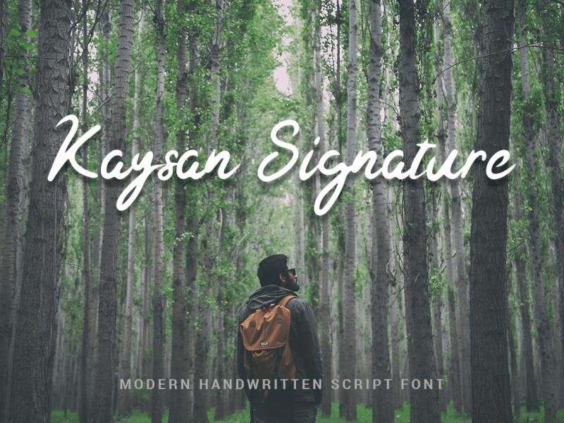 Kaysan шрифт скачать бесплатно