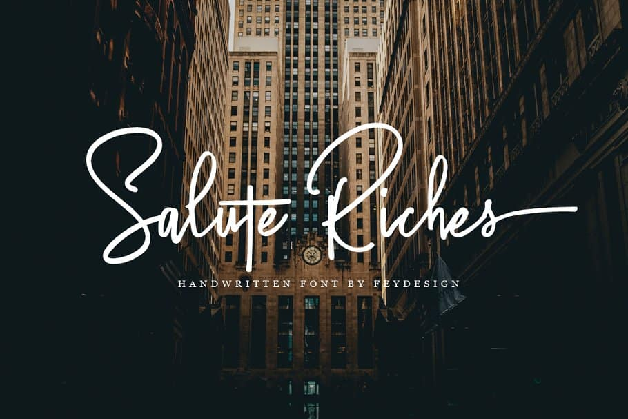 Download Salute Riches font (typeface)