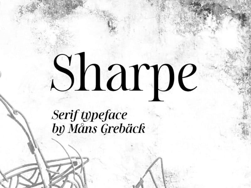 Download Sharpe font (typeface)