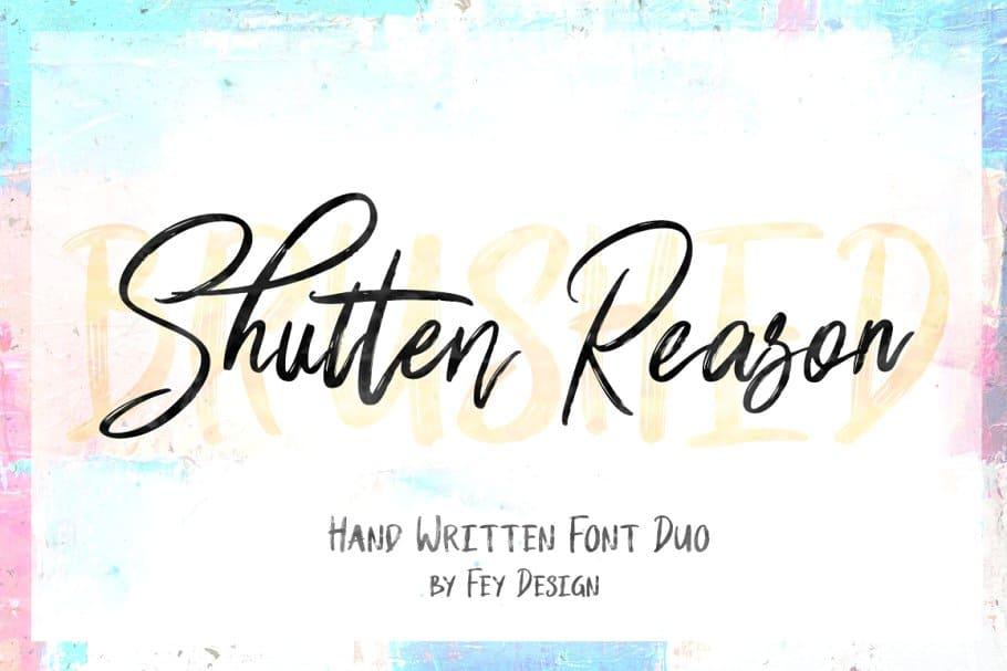 Download Shutten Reason font (typeface)