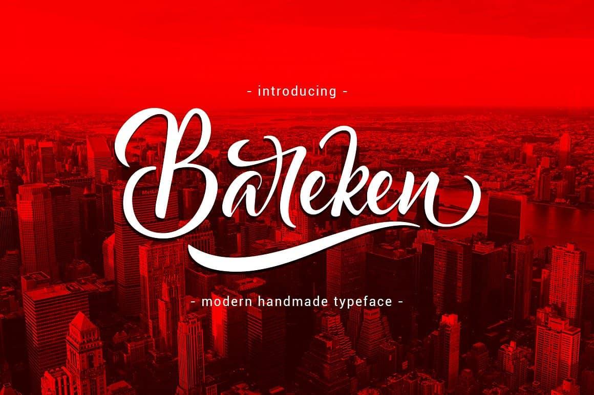 Download Bareken font (typeface)