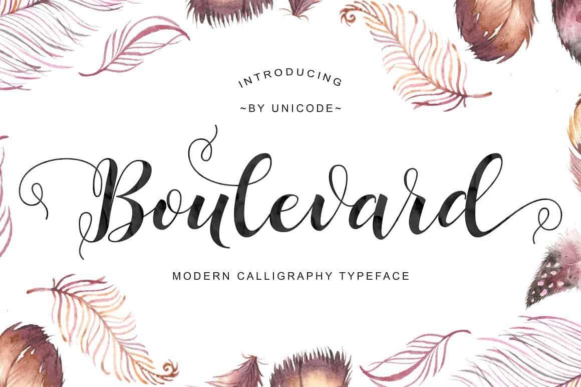 Download Boulevard font (typeface)