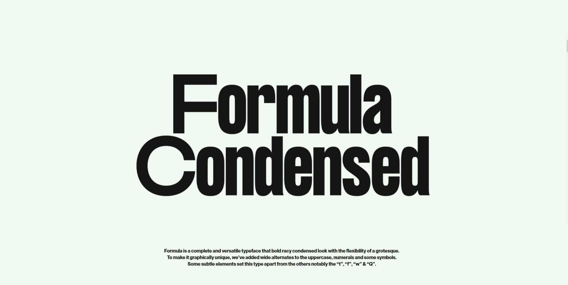 Formula Condensed шрифт скачать бесплатно