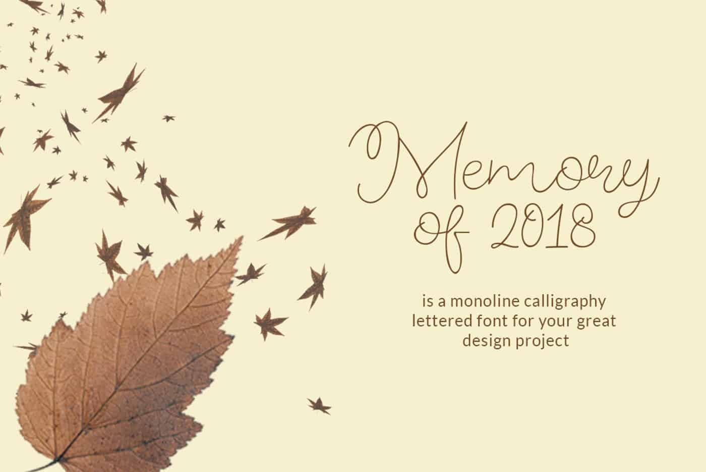 Download Memory of 2018 font (typeface)