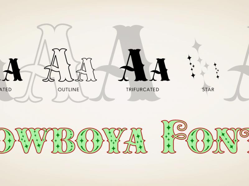 Download Cowboya Tuscan font (typeface)