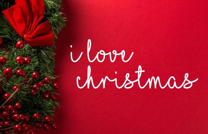 I Love Christmas шрифт скачать бесплатно