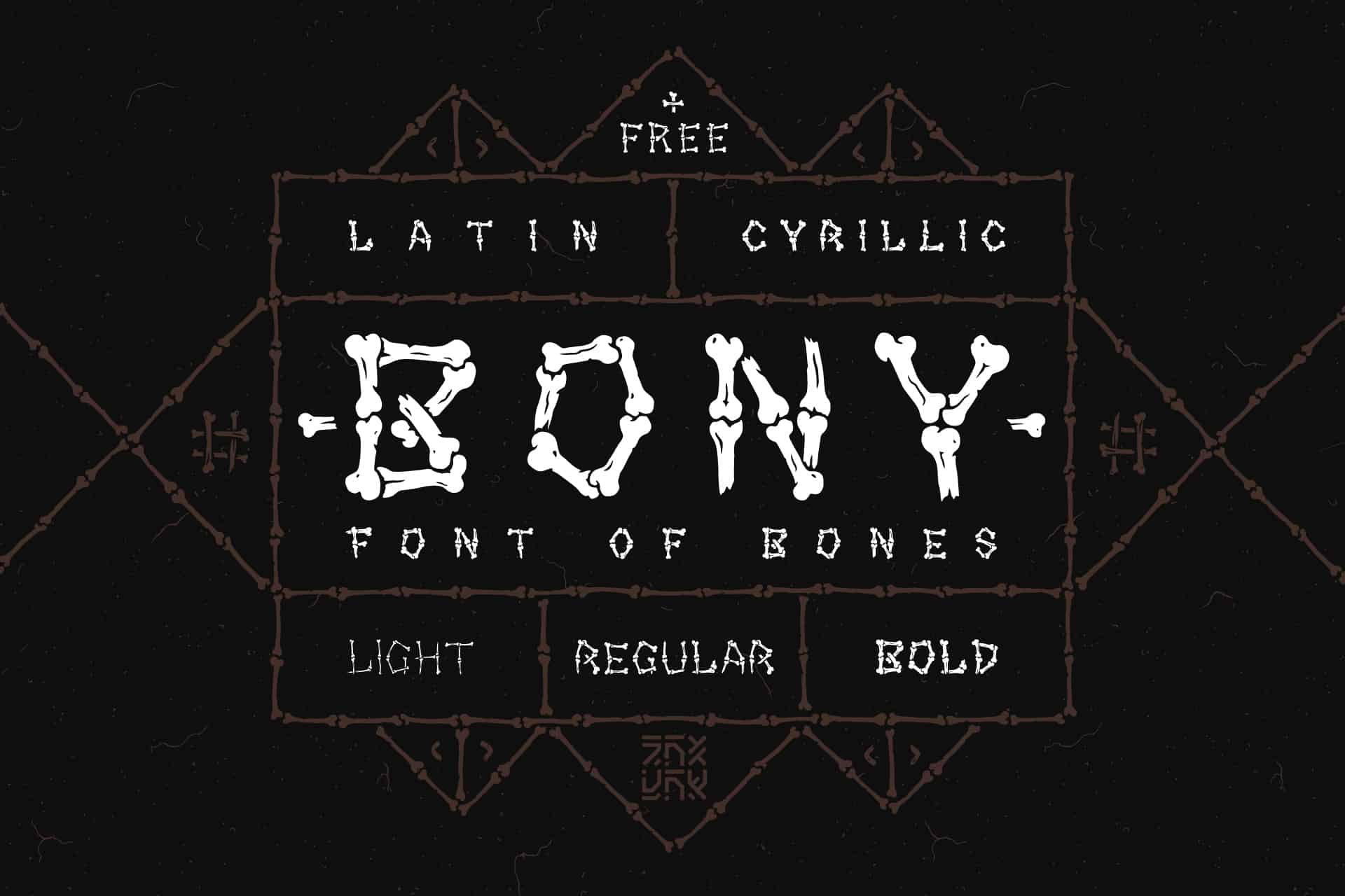 Download Bony Regular font (typeface)