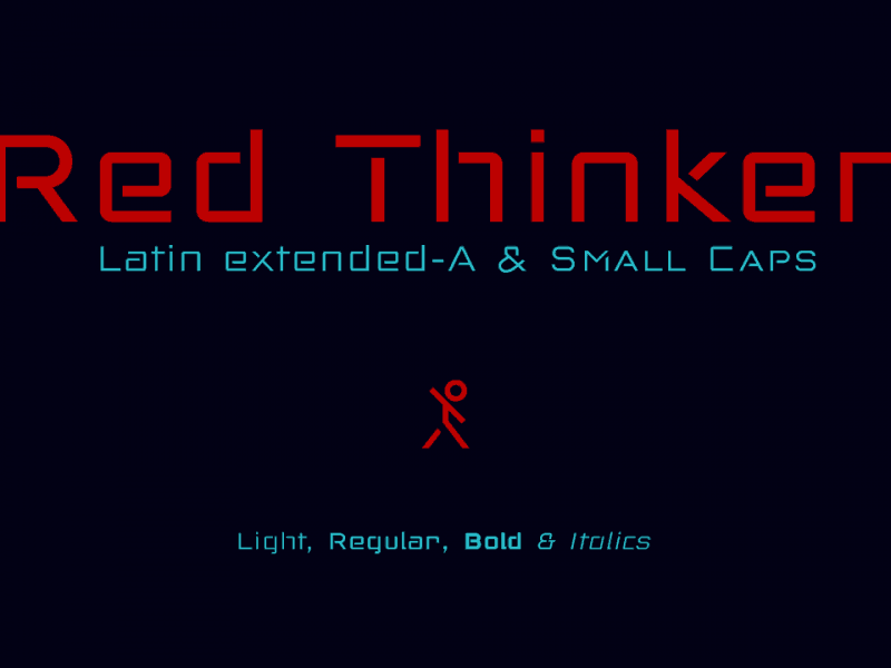 Download Red Thinker font (typeface)