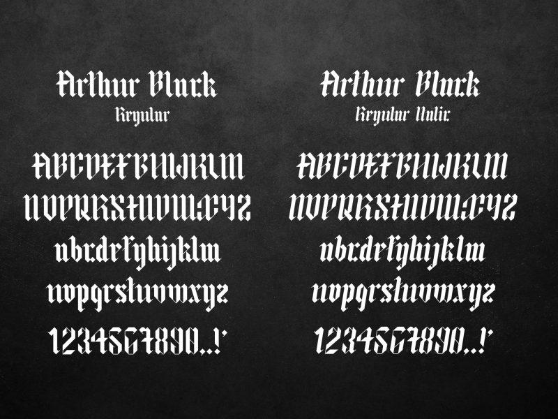 Arthur Black шрифт скачать бесплатно