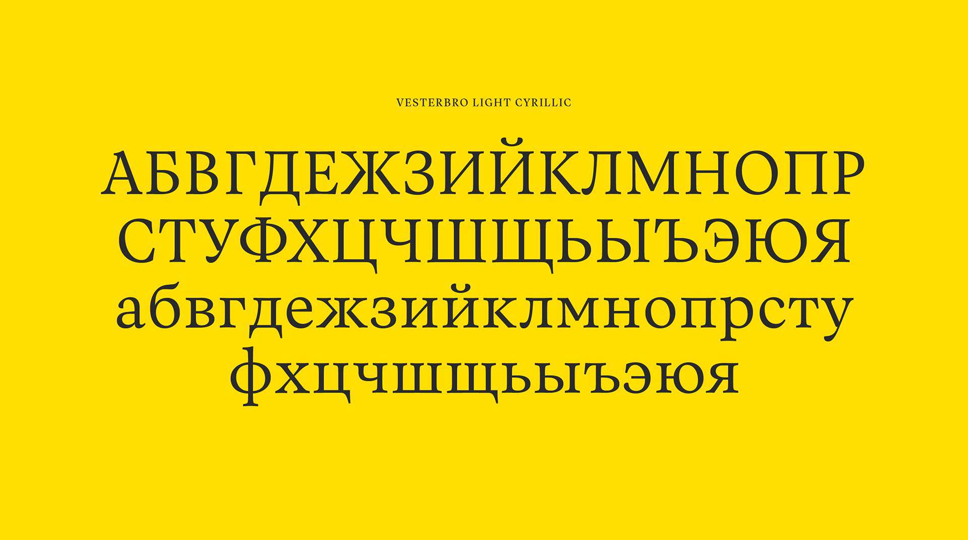Download Vesterbro font (typeface)
