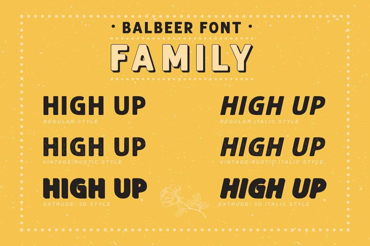 Balbeer шрифт скачать бесплатно