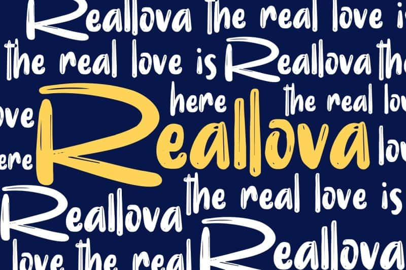 Download Reallova font (typeface)