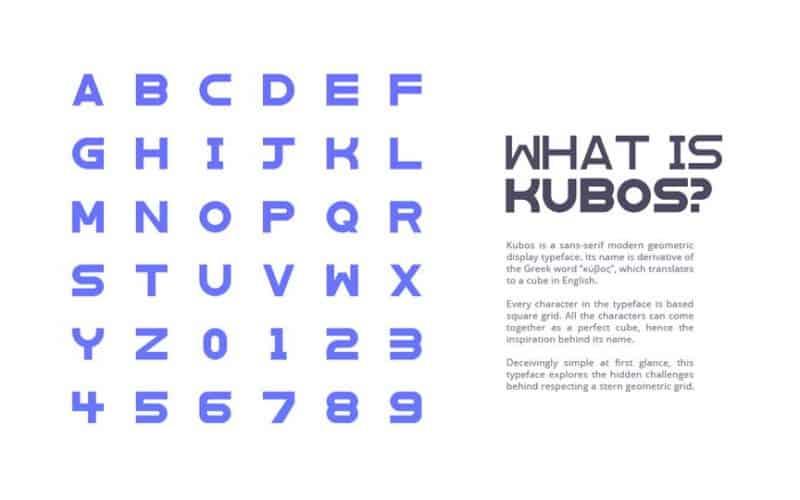 Download Kubos font (typeface)