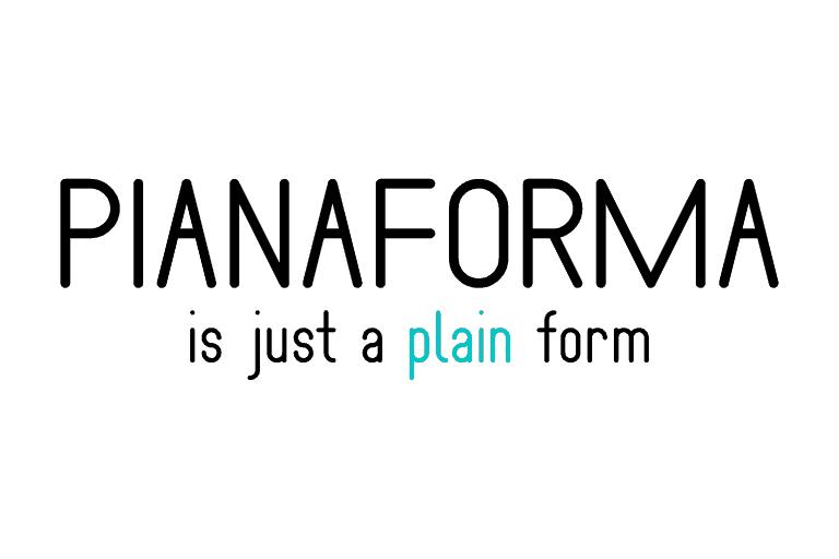 Download Pianaforma font (typeface)