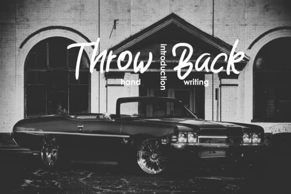 Download Throw Back font (typeface)