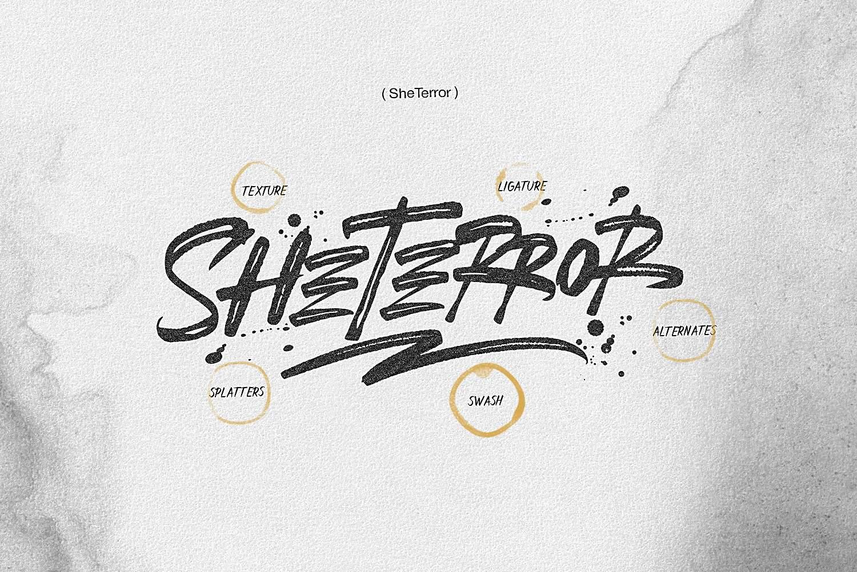 Download SheTerror font (typeface)