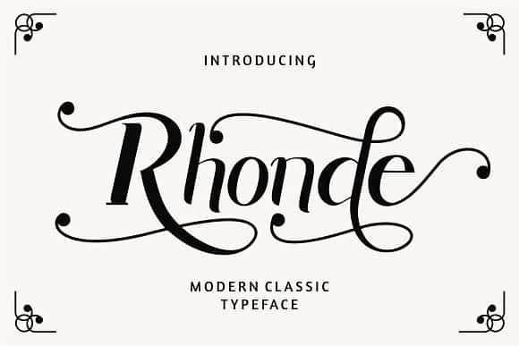 Download Rhonde font (typeface)