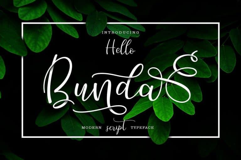 Download Hello Bunda font (typeface)