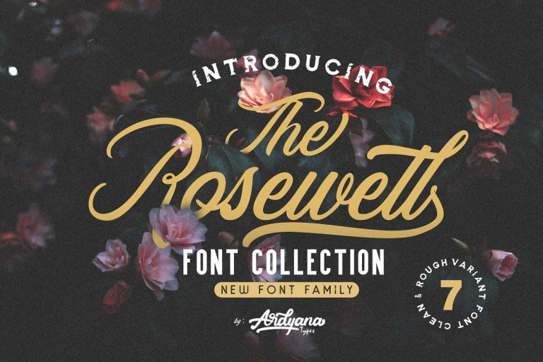 Download Rosewell font (typeface)