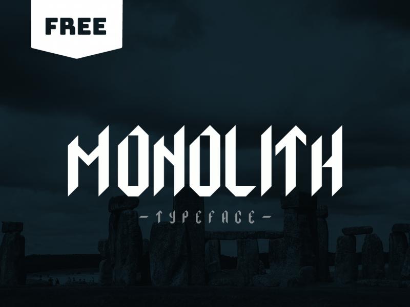 Download Monolith font (typeface)