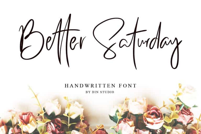 Download Better Saturday font (typeface)
