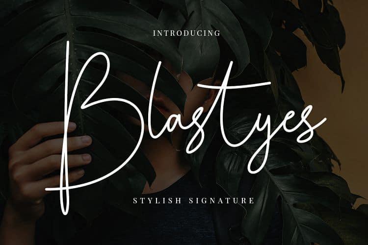 Download Blastyes font (typeface)