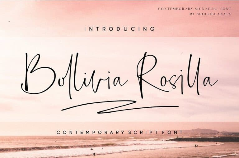 Download Bollivia Rosilla font (typeface)